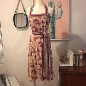 Betsey Johnson 100% silk halter dress